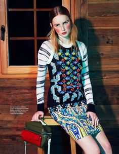 Rianne van Rompaey Gets Dolled Up for Elle Netherlands February Issue