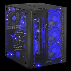 Lian Li's new PC-08 case features two compartments and tempered glass panels Gaming Pc Build, Computer Build, Gaming Pcs, Computer Setup, Computer Case, Gaming Setup, Gaming Computer, Laptop Computers, Radios