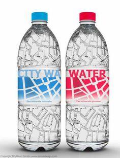 Urban Grid Branding - City Water Packaging Maps Out Metropolitan Paris (GALLERY)