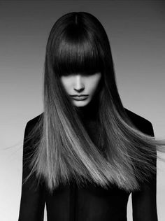 Straight and Bangs | Dark Ombre