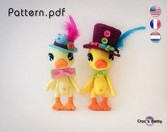 Pattern - Ducky & Ducky  #crochet #pattern #tutorial #amigurumi #tutoriel #canard #duck #duckling