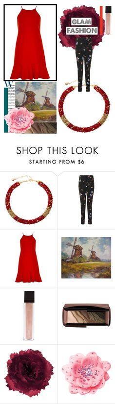 """New Romantics"" by osmianannya ❤ liked on Polyvore featuring Topshop, River Island, Jouer, Hourglass Cosmetics and Accessorize"