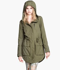 Cargo/Military Jacket from H & M. I need a good fall, medium thickness jacket. This one looks good. #fall #militaryjacket