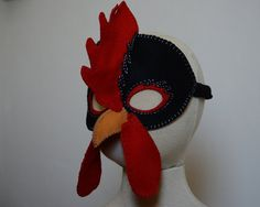 Cluck...Cluck..Cluck!!! COCK-A-DOODLE-DOOO!!! PDF Pattern includes both Hen and Rooster pieces. A felt mask with hand embroidered details makes very fun chickens! This Printable PDF pattern is fully illustrated with detailed instructions and a full size pattern. Available for INSTANT