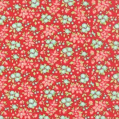 Hey, I found this really awesome Etsy listing at https://www.etsy.com/listing/244709496/red-aqua-flower-fabric-hello-darling