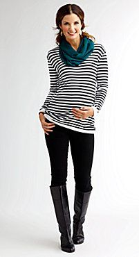 Shade Clothing Striped Shirt + Skinnies + Boots
