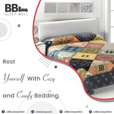 Rest Yourself with cozy and comfy bedding.  #Clean #Luxury #Tranquil #Collected
