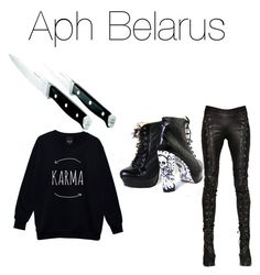"""""""Aph Belarus"""" by hetalia-outfits ❤ liked on Polyvore featuring A.F. Vandevorst and Calphalon"""