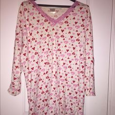 Long Valentine's Day night gown! This used 100% cotton night gown is very comfortable to sleep in! Intimates & Sleepwear Pajamas