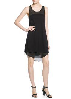 23.00 Chiffon panel dress