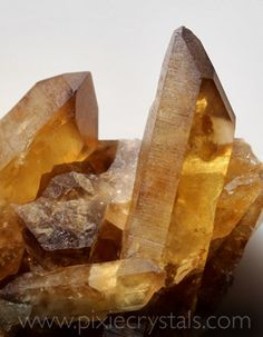 CITRINE QUARTZ - Genuine 100% real natural Citrine crystals - the yellow form of quartz #pixiecrystals - www.pixiecrystals.com -x-