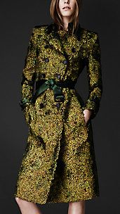 Peacock Feathered Trench Coat  us.burberry.com