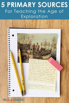 Use these 5 primary sources to create fun Age of Exploration lessons activities and projects for your kids! These photos and documents will help bring history to life in your classroom. World History Projects, World History Facts, World History Lessons, History Memes, History Books, Art History, Teaching Us History, World History Classroom, History Activities