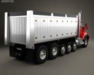 Kenworth T880 Dump Truck 6-axle 2013 3d model