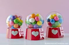 """ Mini Bubblegum Machine Valentines via Bubbly Nature Creations """