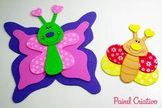 Templates and tutorials included. como fazer borboleta eva decoracoa sala de aula paineis lembrancinha escola festa infantil (5)