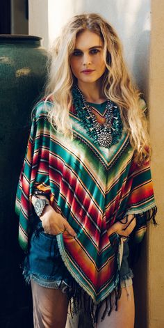 Double D Ranch Spring 2016 Pachamama Serape Poncho!