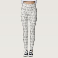Interlocking squares patterns customizable color leggings - diy cyo customize create your own personalize