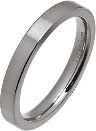 3mm Women's Comfort Fit Brushed Titanium Wedding Ring