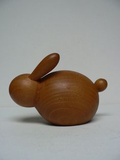 Vintage 1950s Kay Bojesen wood Rabbit/ mid by secreteyesonly