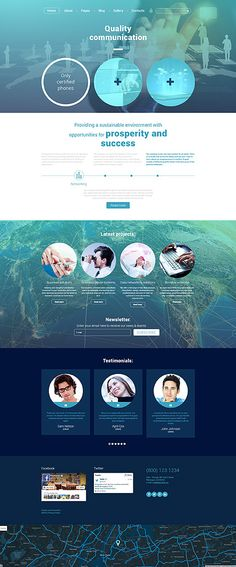 Template 56091 - Quality Communications  Responsive Joomla Template