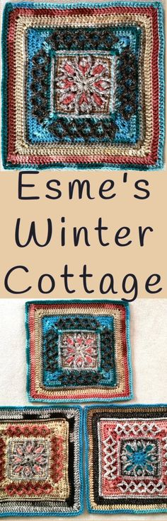 Esme's Winter Cottage Designed by Dedri Uys. Used in the Nuts About Squares CAL arranged by Esther of ItsAllInANutShell.com