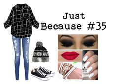 """""""Just Because #35"""" by music-lover-885095 on Polyvore featuring Tommy Hilfiger, Converse and WithChic"""