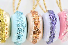 How to DIY French macaron ornaments for your Christmas tree, decorate your gifts or even create an amazing centerpiece for your holiday dessert table.