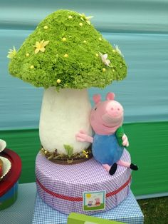 Peppa Pig Birthday Party decorations!  See more party ideas at CatchMyParty.com!