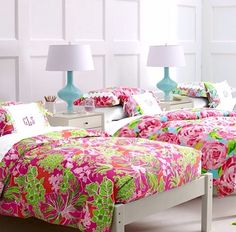 Lily pulitzer bedding #preppy #room decor