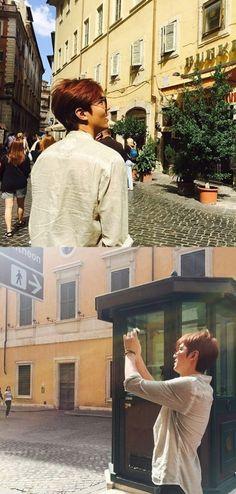 [ Korea NEWS - XSports ] Lee Min Ho in Rome, Italy [Date : 21 September 2015 @ 07:30 hours (KST) / Shared Source: @M_Jennalee)  ) 이민호, 이탈리아 여행 인증샷 '훈훈 매력' :: 네이버 TV연예