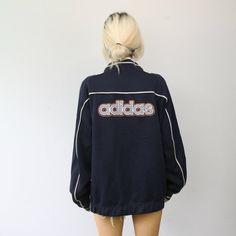 2469e4dfffd4e6 SLUSH VINTAGE adidas spellout tracksuit jacket top trackie windbreaker  unisex oversized streetwear sportswear asosmarketplace slush depop