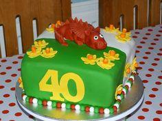 Welsh dragon cake
