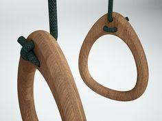 anneaux de gym design en bois Lillagunga- Wood rings design Lillagunga