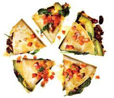 Lightened-Up Snacks For Your Next Tailgate: Vegetable Quesadillas with ...: https://www.pinterest.com/amyblum4/veggie-quesadillas