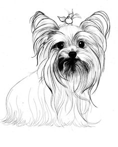 BW Yorkie art for office but of my Chanel with pink crystal bow