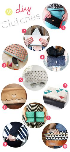 10 great DIY clutches - By Wilma
