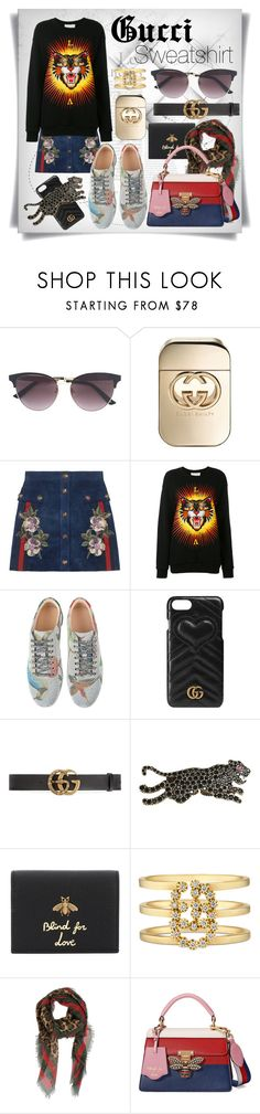 """""""Brand - Gucci:Sweatshirt"""" by imbeauty ❤ liked on Polyvore featuring Gucci and Sweatshirt"""