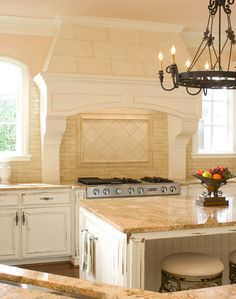 Cream colored french country kitchen