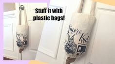 Check out this quick DIY video on how to make a grocery bag holder from a tote bag. It's a great recycle/upcycle project for tote bags.