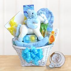 *Please allow up to 1 business day for processing. VIEW SHIPPING RATES/ MAP FOR THIS ITEM Send your welcome wishes to the newborn baby boy and include something for the new parents as well. CONTENTS:
