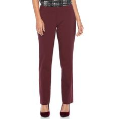 Women's Apt. 9® Torie Straight-Leg Dress Pants, Size: 10 Short, Red