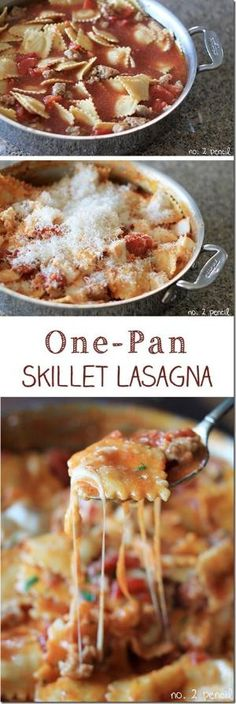 Skillet Lasagna – Easy One Pan Meal and other easy meals by nell