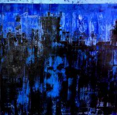 "Saatchi Online Artist Giorgi Chxeo; Painting, ""City at night"" #art"