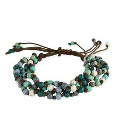 Another great find on #zulily! Blue Bead Bracelet #zulilyfinds