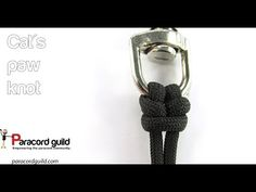 How to tie a cat's paw knot - Paracord guild Jewelry Knots, Jewelry Crafts, Handmade Jewelry, Paracord Knots, Paracord Bracelets, Paracord Projects, Paracord Ideas, Fishing Knots, Fishing Tips
