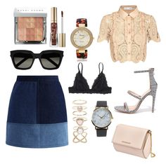 """""""Ava"""" by nimotalai on Polyvore featuring Monki, self-portrait, Chicwish, Accessorize, Givenchy, Yves Saint Laurent, Geneva, NLY Accessories, Too Faced Cosmetics and Bobbi Brown Cosmetics"""