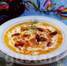 My Recipes, Soup Recipes, Favorite Recipes, Hungarian Recipes, Hungarian Food, Eat Pray Love, Tasty, Yummy Food, Bean Soup
