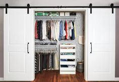 Reach-in closet before & after. Too much stuff, too little space, too many wardrobe woes. Perhaps you can relate? Real Simple helped a busy working mom transform her clothes closet, from what's in it to where it all goes. This two-part solution will work wonders for yours, too.