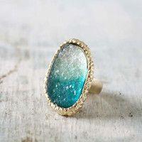 Ombre Druzy Ring , Sweet Bohemian Jewelry
